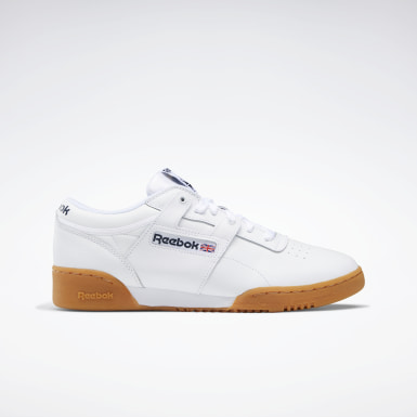Men Classics White Workout Low