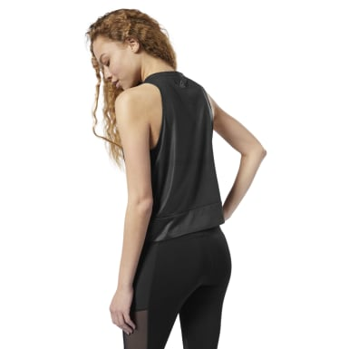 Women Yoga Black Studio Graphic Tank Top