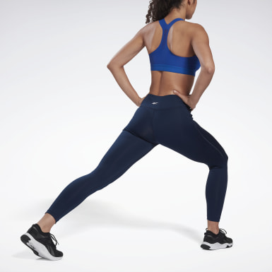 Women Training Blue Workout Ready Tights