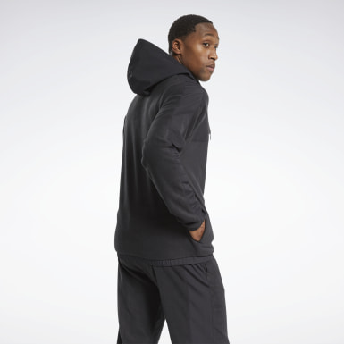 Men Montanhismo Black Workout Ready Fleece Zip-Up Jacket
