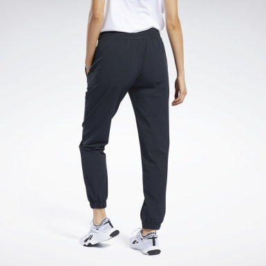 Women Training Black Stretch Woven Pants