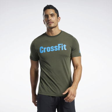 Men Cross Training Green Reebok CrossFit® Read T-Shirt