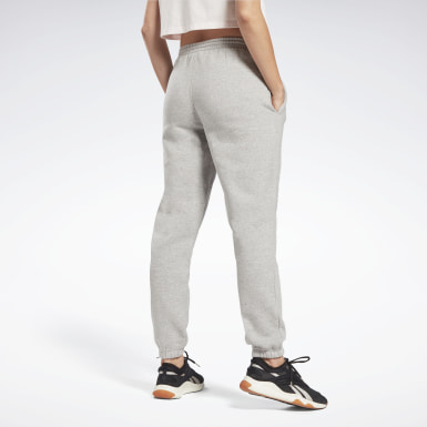 Frauen Fitness & Training Reebok Identity Logo Fleece Pants Grau