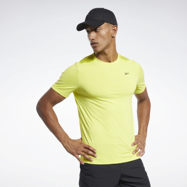 Men Training Yellow Workout Ready ACTIVCHILL Tee