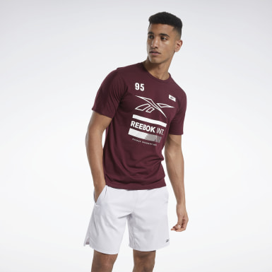 Men Fitness & Training Burgundy Speedwick Graphic Move Tee