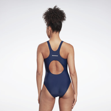 Women Swimming Blue Swimsuit
