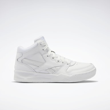 Boys Classics White Reebok BB4500 Court Shoes