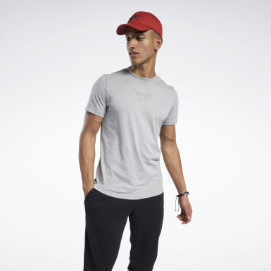 Men Fitness & Training Grey Training Essentials Mélange Tee
