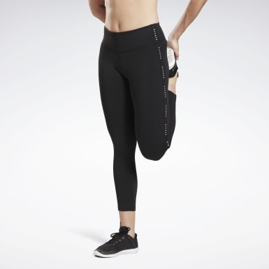 Dames Yoga Zwart Studio Lux 7/8 Legging 2.0 - Reebok Read