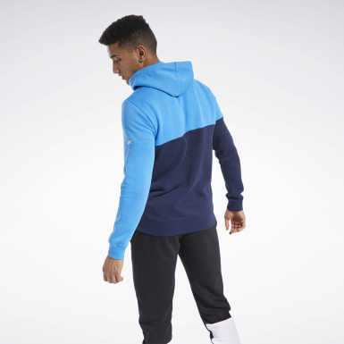 Men Fitness & Training Blue Training Essentials Logo Hoodie
