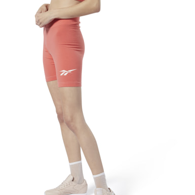 Dam Classics Orange Classics Vector Logo Bike Shorts
