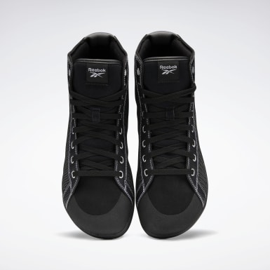 Men Cross Training Black Reebok Power Lite Mid Men's Training Shoes