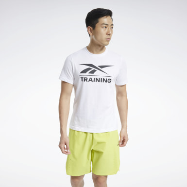 Men Cross Training White Reebok Specialized Training T-Shirt