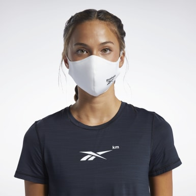Fitness & Träning Vit Face Covers M/L 3-pack