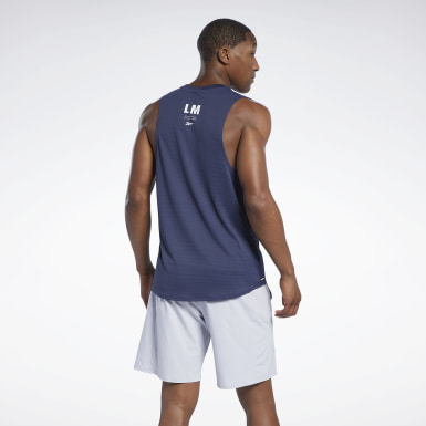 Men Studio Blue Les Mills® Knit Tank Top