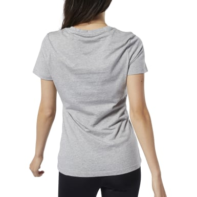 Camiseta de cuello redondo Graphic Series Gris Mujer Fitness & Training