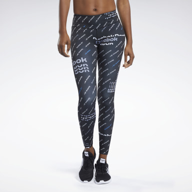 Legginsy Workout Ready Allover Print Czerń