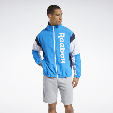 Mænd Fitness & Training Blue Training Essentials Linear Logo Jacket