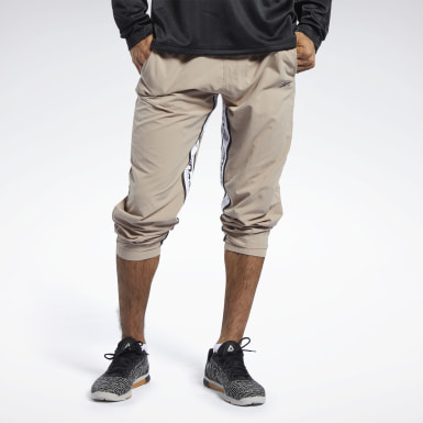 Men Fitness & Training Beige Meet You There 7/8 Pants
