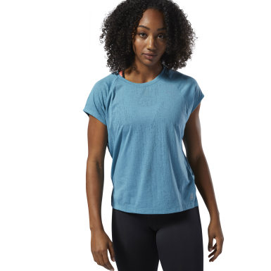 Women Training Turquoise Burnout Tee