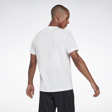 Mænd Fitness & Training White Vector Fade Graphic T-Shirt