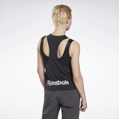 Women Trail Running Black Run ACTIVCHILL Tank Top
