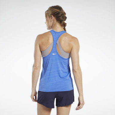 Women Training Blue ACTIVCHILL Graphic Tank Top