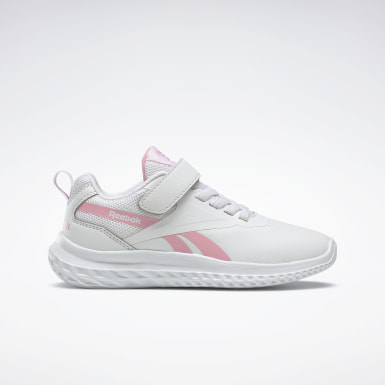 Girls Running White Reebok Rush Runner 3 Shoes