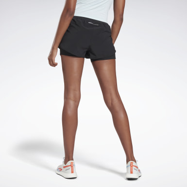 Women Running Black One Series Running Epic Two-in-One Shorts