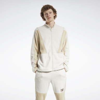 Men Classics White Classics Winter Escape Track Jacket