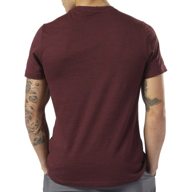 Men Training Red Training Essentials Marble Melange Tee