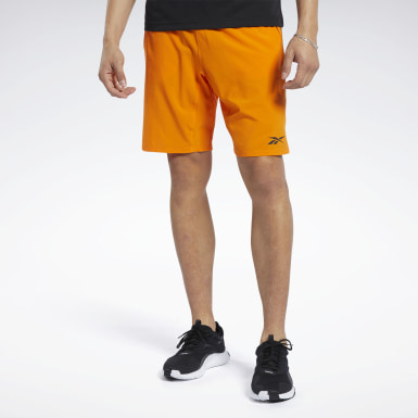 Men Training Orange Speedwick Speed Shorts