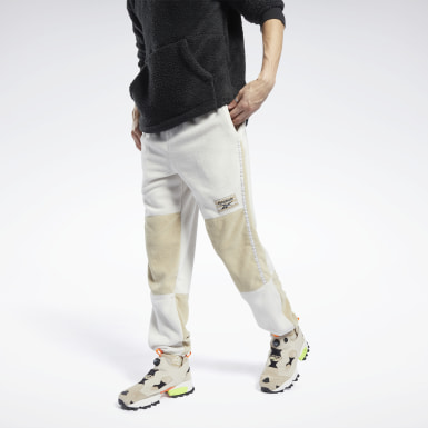 Heren Classics Wit Classics Winter Escape Fleece Broek