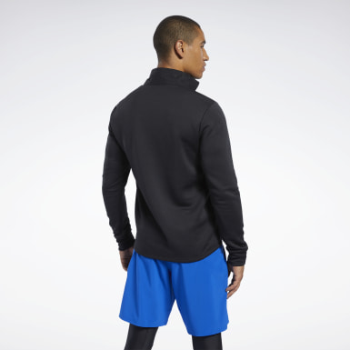 Men Fitness & Training Black Speedwick Quarter-Zip Top