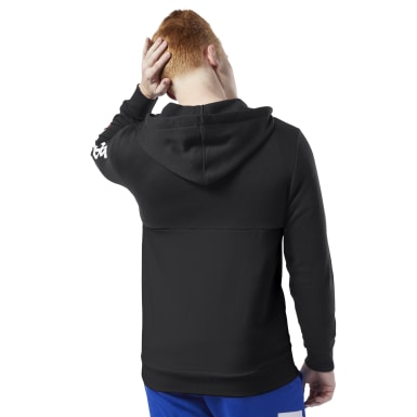 Männer Fitness & Training Training Essentials Linear Logo Hoodie Schwarz