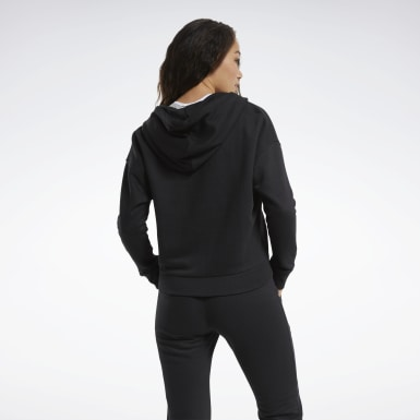 Frauen Fitness & Training Training Essentials Logo Hoodie Schwarz