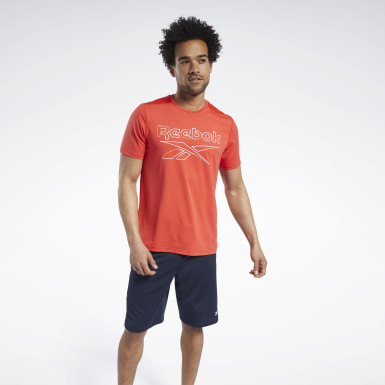 Men Cycling Red Workout Ready ACTIVCHILL Tee