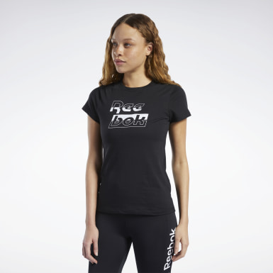 Camiseta Training Essentials Reebok Graphic Negro Mujer Fitness & Training