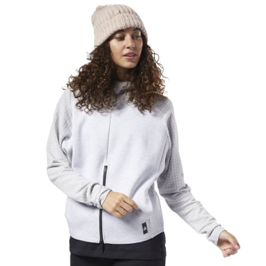 Women Training Grey Training Supply Hoodie