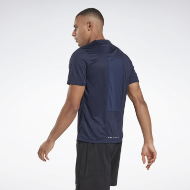 Men Trail Running Blue Running Essentials Shirt