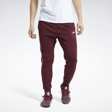 Men Outdoor Burgundy Workout Ready Joggers