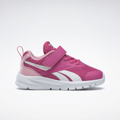 Girls Running Pink Reebok Rush Runner 3 Alt Shoes - Toddler