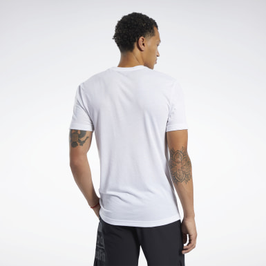Men Cross Training White Reebok CrossFit® Read Tee