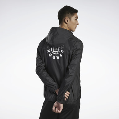 Men Fitness & Training Black Meet You There Blocked Windbreaker