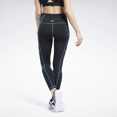 Licras MYT Contrast Stitch Negro Mujer Fitness & Training