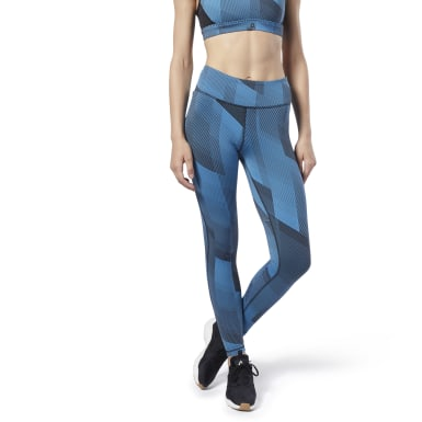 Women Fitness & Training Blue Reebok Lux Tights 2.0