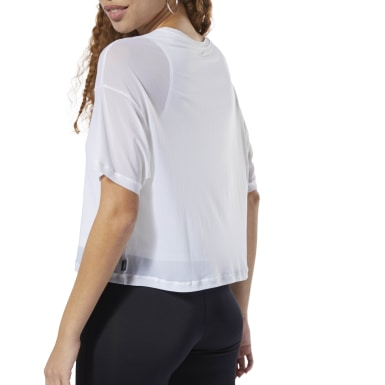 Camiseta WOR Meet You There Layering Blanco Mujer Fitness & Training