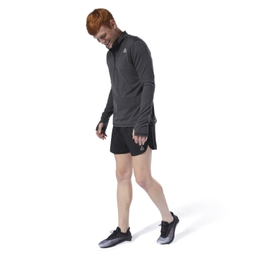 Sudadera Running Essentials Quarter Zip Negro Hombre Running