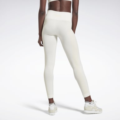 Women Fitness & Training White VB Seamless Tights