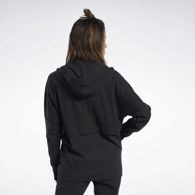 Kvinder Hiking Black QUIK Cotton Hoodie